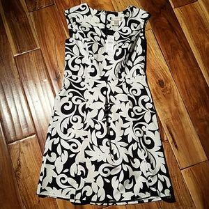 Loft Pleated front dress